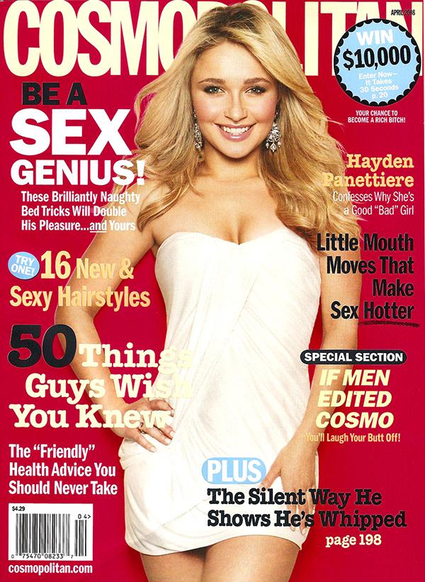 April 2008 Cover cosmopolitan 957337 914 1250 Cosmo:  Hayden Pantettiere