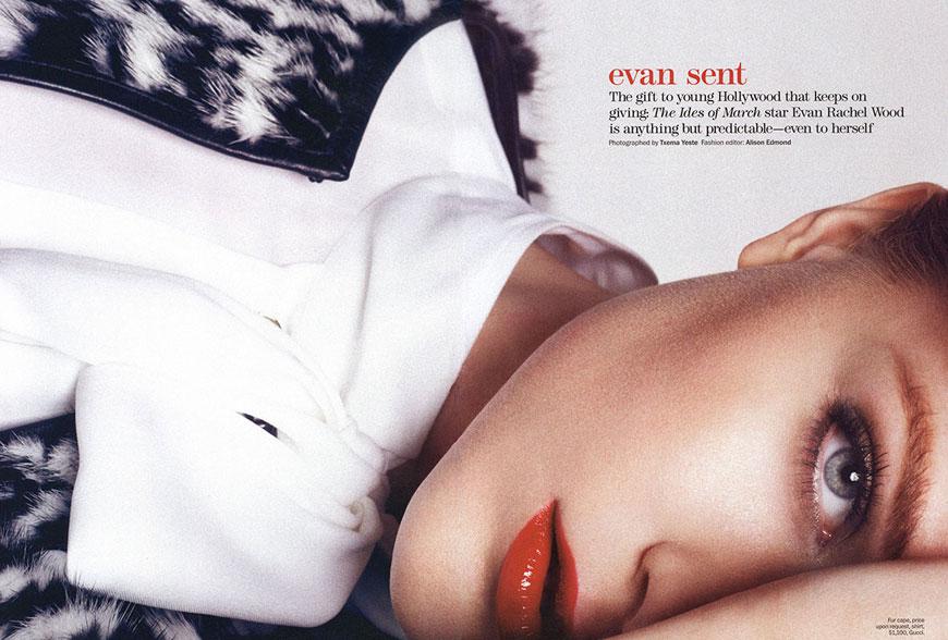 evan Marie Claire:  Evan Rachel Wood