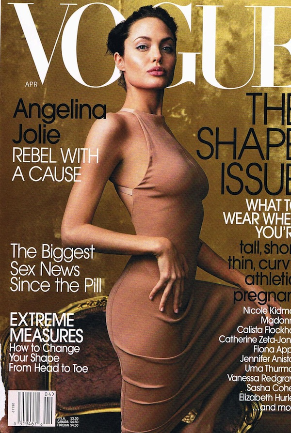 Vogue Annie Leibovitz Angelina Jolie April 02 Vogue:  Angelina Jolie