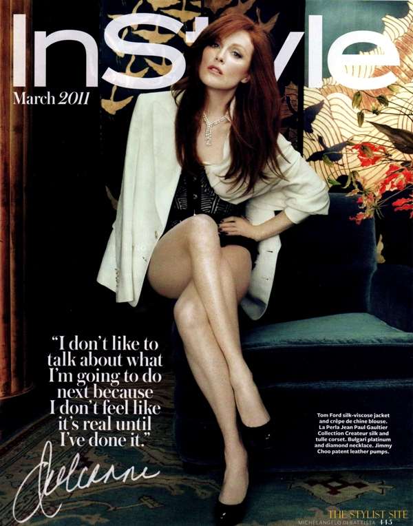 instyle march 2011 julianne moore 2 Julianne Moore In Style