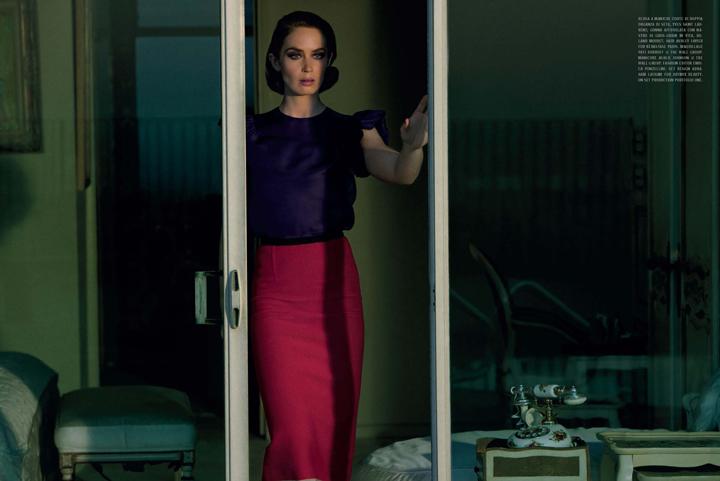 vogueit emilyblunt web6 Italian Vogue: Emily Blunt