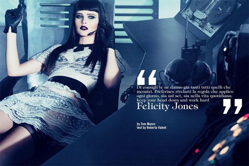 felicity1 Felicity Jones: Vogue Italia
