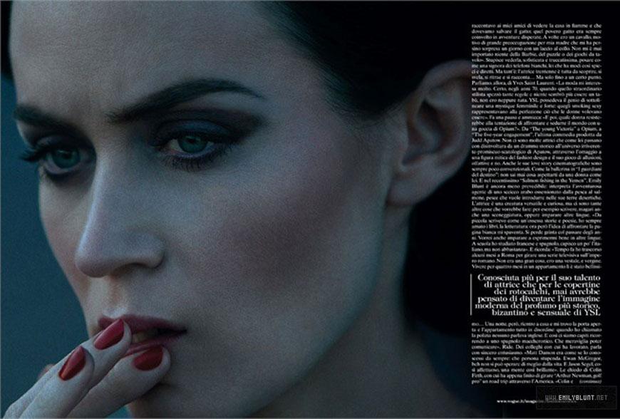 emily blunt Italian Vogue: Emily Blunt